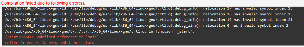 undefined reference to `main' c++