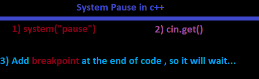 system pause solutions in c++